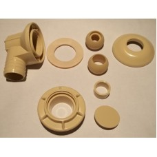 "Lomart - Doughboy - Return Inlet Kit 1.5"" Almond for Doughboy Lomart Embassy Pools - 1121-1461"