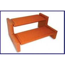 Confer Plastics Spa Step Handi-Step Cedar Color - HS2-R