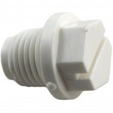 "Parher Plug 1/4"" Mpt White Abs - E-15-S1"