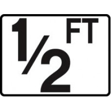 Inlay's Tile Depth Marker Plastic Ft Series 1/2Ft - P410005