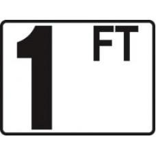 Inlay's Tile Depth Marker Plastic Ft Series 1Ft - P410010