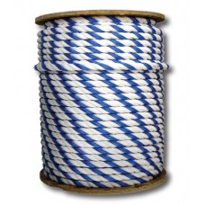 """Generic Pool Safety Rope 3/4"""" Nylon Blue And White By The Foot - ROPE3/4-300"""