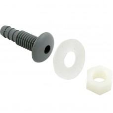 "Waterway Air Injector Barb 0.25"" Grey W/ Retaining Nut - Gasket - 670-2137"