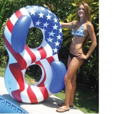 Swimline Air Inflatable Floating Lounge Americana Double Ring  - 90413