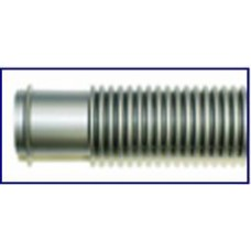 """Pool Style Filter Hose 1.25"""" X 3' Grey - 6003"""