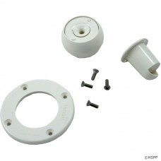 Pentair SwimQuip Inlet Eyeball Faceplate Assembly White with Screws - 08428-0001
