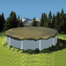 Emperor Round 28' Swimming Pool Winter Cover Tan 20 Year Warranty - BT0028