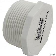 "Lasco PVC Plug 1.5"" Mpt Threaded Hex Head - 450-015"