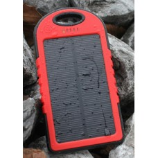 AudioBomb Solar Charger Red