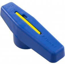 "Praher Handle Blue w/ Pin for 2"" Single Union PVC Ball Valve - SU-200-1B"