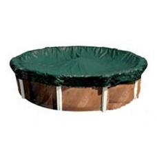 Poolstyle Platinum 24' Above Ground Pool Winter Cover 15/3Yr Warranty with Bound Edge - 121227AB