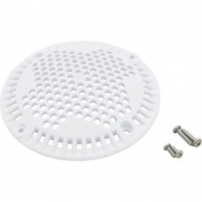Carvin Jacuzzi Main Drain Cover Kit with Screws White 43112804K - 43-1128-04-K