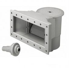 Poolstyle Skimmer Assembly Wide Mouth Grey for Above Ground Pools - PS002