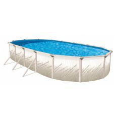 "Pretium GLX 52"" Oval 12'x18' Pool Package - 6"" Steel Pool Frame"
