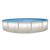 "Pretium GLX 52"" 24' Pool Package - 6"" Steel Pool Frame"