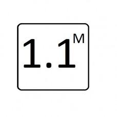 "Inlay's Tile Glazed Ceramic Depth Marker 6""x6"" Metric 1.1M"