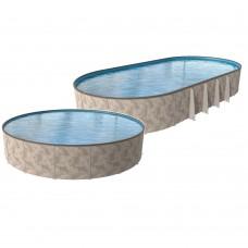 """Optimum 24' 52"""" Semi In Ground Premium Pool Package"""