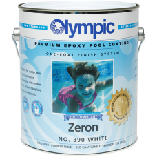 Olympic Zeron White Gallon Epoxy Pool Paint - 390-G